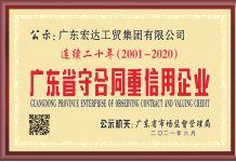 """重约守信——我集团及各分子公司荣获2020年度""""广东省守合同重信用""""企业称号"""