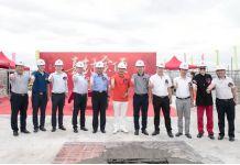 广州星唯智能科技有限公司项目工程主体结构喜封金顶